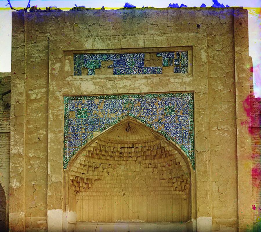 С. М. Прокудин-Горский. Изразцовые рисунки над вратами в царской усыпальнице