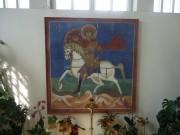Икона Георгия Победоносца в интерьере церкви Воскресения в Кадашах в Москве.