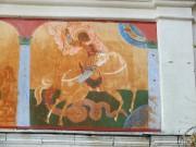 Часть росписи-триптиха на восточном фасаде церкви Преображения Господня в Спас-Прогнанье Жуковского района Калужской области.