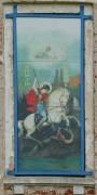 Храмовая икона на апсиде Георгиевской церкви в селе Юрьевское Старицкого района Тверской области.