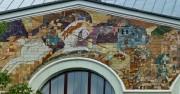 Георгий Победоносец - панно на фасаде Дома начальных училищ в Москве, где в годы Первой Мировой войны располагался 88-й Пушкинско-Хамовнический госпиталь с домовой церковью.