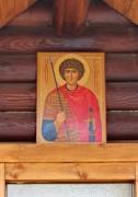 Образ Георгия Победоносца на южном крыльце церкви Иконы Божией Матери Иверская в Бабушкине, в Москве.