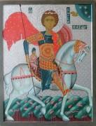 Георгий Победоносец, икона (студенческая копия) в Соборной палате Владимирской церкви при Епархиальном доме в Москве.