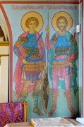 Великомученики Георгий и Никита, роспись основного объема Никольской церкви села Стрелково Подольского района Московской области.