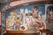 Усекновение главы великомученика Георгия, Чудо Георгия о змие, роспись интерьера нижнего храма Георгия Победоносца Иверской церкви в Очаково-Матвеевском, в Москве.
