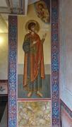 Храмовый образ, роспись перед лестницей в нижний храм Георгия Победоносца Иверской церкви в Очаково-Матвеевском, в Москве.