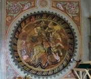 Георгий Победоносец, керамическая икона на северной стене Сергиевского придела Успенского собора в Дмитрове Московской области.
