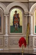 Храмовая икона в иконостасе церкви Георгия Победоносца в Витязево, в Анапе Краснодарского края.