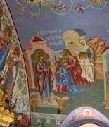 Св. Георгий раздает свое имущество нищим, роспись трапезной церкви Великомученика Георгия, что в Яндове (Москва).