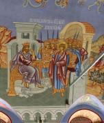 Исповедание веры перед царем Диаклетианом, роспись трапезной церкви Великомученика Георгия, что в Яндове (Москва).