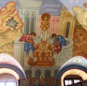 Мучение св. Георгия во рву с известью, роспись трапезной церкви Великомученика Георгия, что в Яндове (Москва).