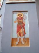 Калуга. Храмовый образ на стене Георгиевской церкви-часовни при УВД Калужской области.