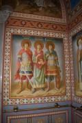 Георгий Победоносец, Пантелеймон и Дмитрий Солунский, внутренняя роспись Крестовоздвиженской церкви в Ливадийском дворце, в Ялте.