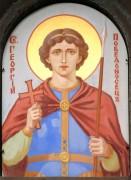 Образ Георгия Победоносца на фасаде Воскресенской церкви в Форосе, в Крыму.