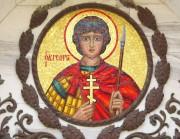 Мозаичный образ Георгия Победоносца на фасаде Георгиевской церкви на Сапун-горе в Севастополе.