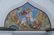 Храмовая икона над входом в церковь Георгия Победоносца в Коломенском. Москва.
