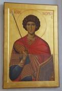 Икона святого Георгия Победоносца в верхнем храме церкви Сергия Радонежского в Солнцево, в Москве.
