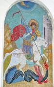 Мозаичная икона Святого Георгия на западной стороне апсиды церкви Алексия, митрополита Московского, при Тульском артиллерийском училище.