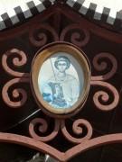 Образ Георгия Победоносца на фронтоне зонта Иоанно-Богословского собора в Саранске Республики Мордовия.
