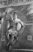 Горельеф московского Храма Христа Спасителя, изображающий воина Георгия. Находится в Донском монастыре. Скульптор Н. А. Рамазанов, 1847-1849 гг.