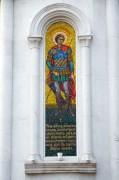 Мозаичный храмовый образ на апсиде церкви Георгия Победоносца в Самаре.